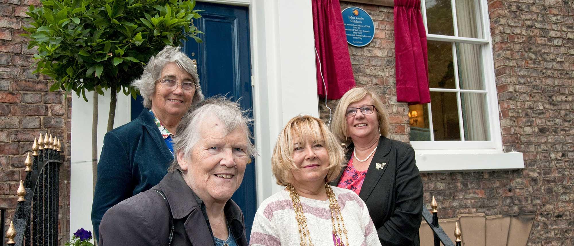 EACrichton Plaque: Four Lady Lord Mayors Hopton Looker Boyce Reid