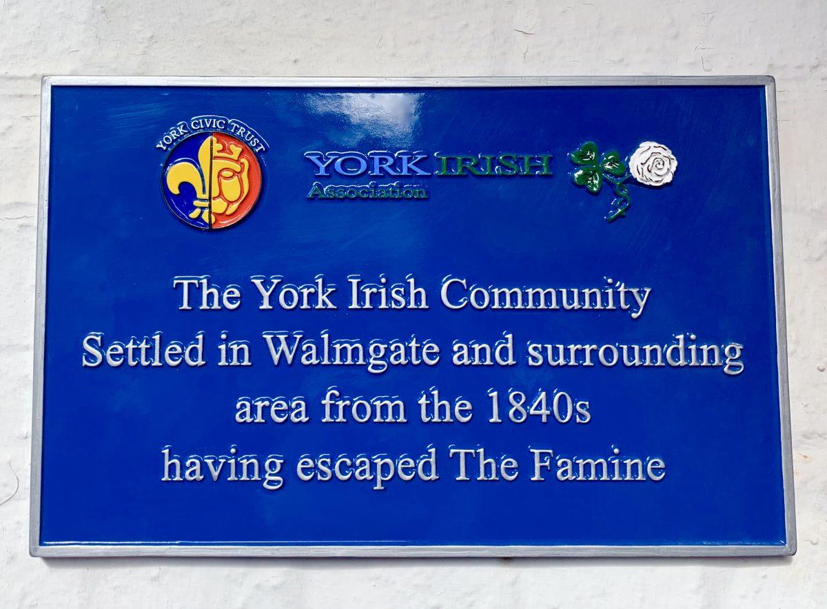 Irish plaque