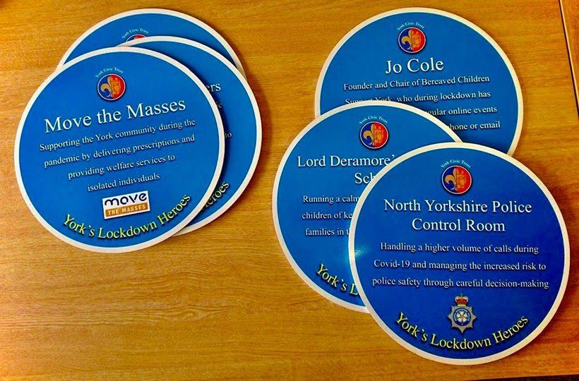 Lockdown Heroes Plaque Ceremonies York Civic Trust